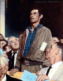 Norman Rockwell's Freedom of Speech
