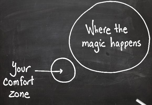 Image result for outside your comfort zone is where the magic happens
