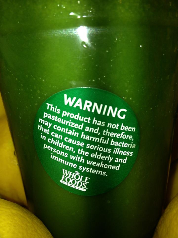 juice warning