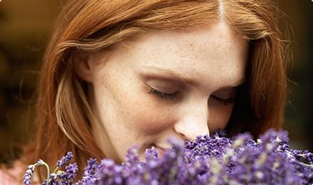 smelling lavender 1