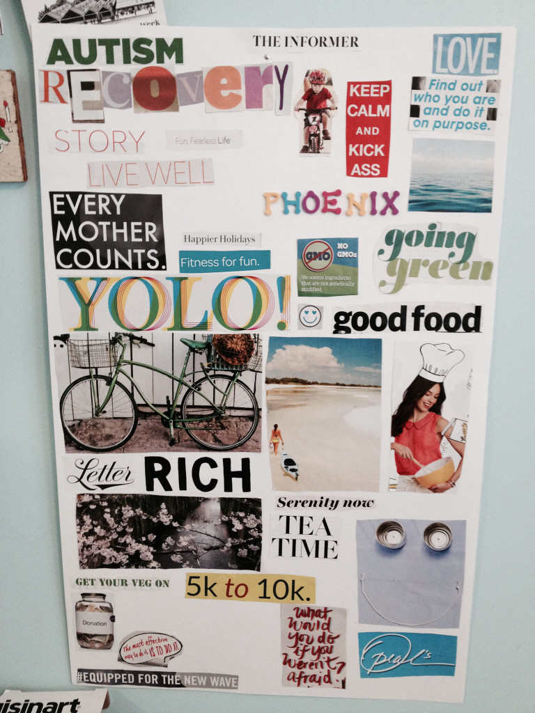 Autism recovery vision board