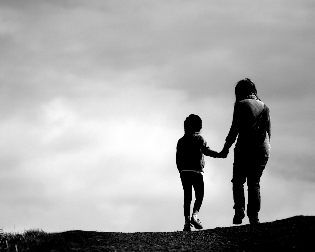 Mother-son-walk