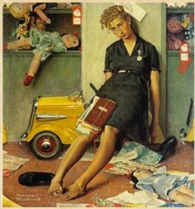 Norman Rockwell mom