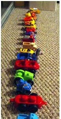 He Was Diagnosed With Severe Autism And Developmental Delay Before Turned Three My Son Likes To Line Things Up Toy Soldiers Stuffed Toys Cars