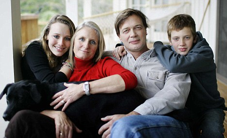 Andrew Wakefield with his family
