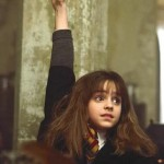Hermione Granger in a characteristic position