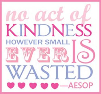 kindness not wasted