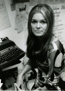 Gloria Steinem as a young woman