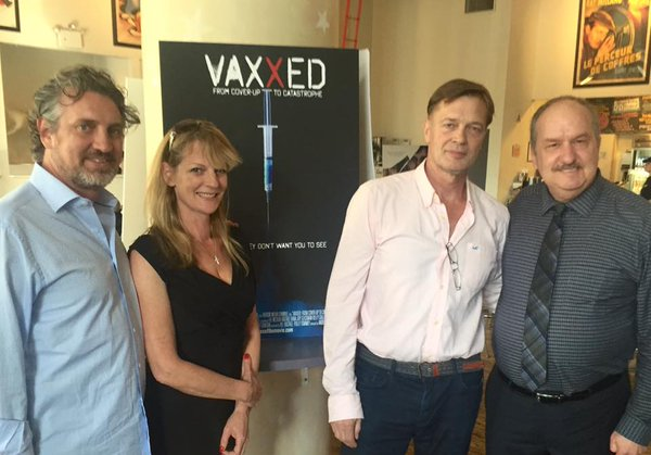 Del Bigtree, Polly Tommey, Dr. Andrew Wakefield, and Dr. Brian Hooker